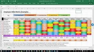Employee Training Matrix Template Excel Employee Training Plan Template Excel And Employee Training