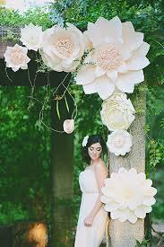 Paper Flower Wedding Decorations Balushka Paper Artistry Chuppah Ideas Paper Flowers Paper
