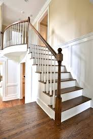 Open Stairs with Custom Wood Paneling traditional-staircase