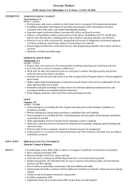 Host Resume Samples Velvet Jobs