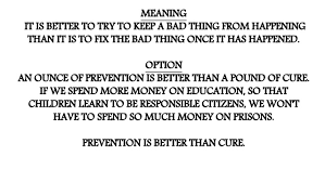 proverbs prevention is better than cure prevention is better than cure 2 prevention