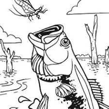 Small Picture Coloring Page Bass Fish Pages mosatt