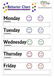 Blank Behavior Charts For Students Printable Behavior Charts Bing Images Behavior Chart
