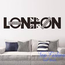 92 20cm london vinyl union jack art wall sticker home decor quote