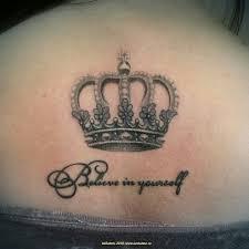 татуировка корона и надпись частичная коррекция цвета и оттенков