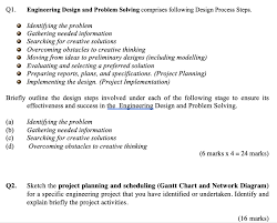 Preliminary Design Process Solved Engineering Design And Problem Solving Comprises F