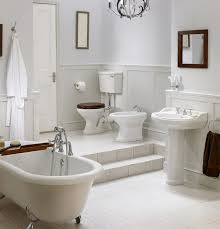 clawfoot tub bathroom ideas. This Bathroom Features Two Different Levels, The Upper Featuring A Toilet And Bidet, Clawfoot Tub Ideas O