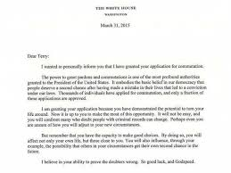 president obama sent this letter to a convict