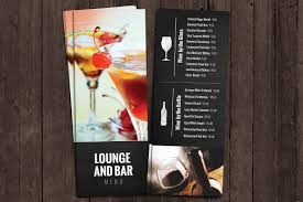 Drinks Menu Template Bar And Lounge Drink Menu Brochure Templates Creative Market 21
