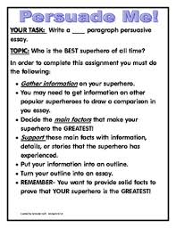 persuasive essay who is the best superhero late elementary  persuasive essay who is the best superhero late elementary middle school