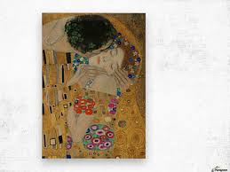 klimt the kiss detail wood print