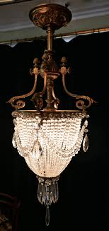 beautiful french empire style basket chandelier