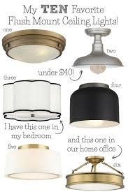 Flush Ceiling Lights Living Room Enchanting Best Flush Mount Ceiling Lighting My 48 Faves From Inexpensive To