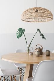 Rieten Hanglamp Boven De Eettafel Remade With Love