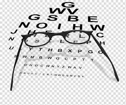 Glasses Eye Chart Eye Examination Glasses Transparent