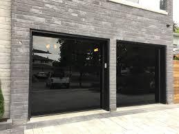 image of modern glass garage doors