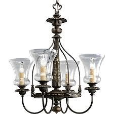 progress lighting fiorentino collection forged bronze. fiorentino collection forged bronze 4-light chandelier progress lighting h