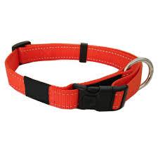 Puppy Collar Size Chart Nylon Webbing Dog Collar Reflective Leash And Harness Pet