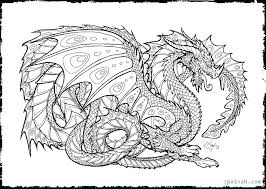 Animal Coloring Pages For Adults Dragon Color Pages Realistic Dragon