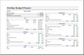 budget planner excel template holiday budget planner template for excel excel templates