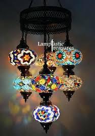 lamps lamp mosaic lighting turkish chandelier 5 ball