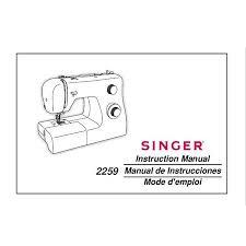 Singer Sewing Machine 2259 Manual