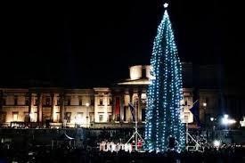 Londoners blast Trafalgar Square Christmas tree as 'gherkin draped ...
