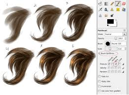 simple hair painting step by step by wingedgenesis5 on deviantart