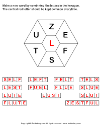 answer make words using letters z e f s t u l
