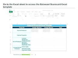 Balance Score Card Template Balanced Scorecard Example Excel Free