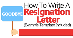 Official Resignation Letter Best How To Write A Resignation Letter Example Template Included
