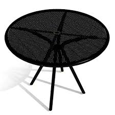 american tables and seating ab36 36 inch black round outdoor table