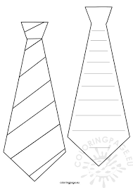Small Picture Necktie Notepad Fathers Day Craft Coloring Page