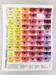 Daniel Smith Watercolor Dot Chart Daniel Smith Watercolor 238 Dot Color Chart Artist Lydia