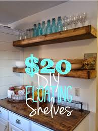 diy floating shelves tutorial for 20 each