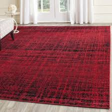 t austin design costa mesa red black contemporary area rug