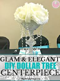 glam and elegant dollar tree centerpiece