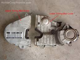 2001   2005 Honda Civic Acura EL Timing Belt Replacement   YouTube additionally  also VERY  DETAILED  HONDA CIVIC TIMING BELT CHANGE REPLACEMENT FOR ALL in addition Part 1  How to Test For A Broken Timing Belt  2001 2005 1 7L Honda besides  furthermore Repair Guides   Engine Mechanical   Timing Belt And Tensioner moreover 2001 Honda Civic Car Won't Stay Running After Timing Belt w besides Honda Accord Timing Belt Replacement Cost Estimate also Pt 1 of 2  Timing Belt Service 7th Gen Honda Civic   YouTube furthermore 2003 Honda Civic Head Gasket and Timing Belt Replacement  10 Steps as well 02 Accord   Dealer claims oilpump leak   needs timing belt. on 2001 honda civic timing belt repment