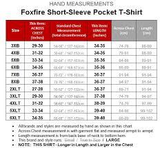 Foxfire Black Pocket T Shirt 100 Cotton 4xl 7xl 2xlt 3xlt 605a