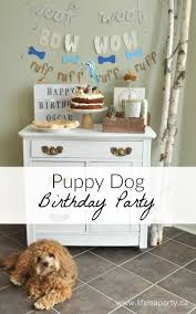 Dog Birthday Decorations 17 Best Ideas About Dog Birthday Parties On Pinterest Puppy