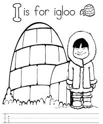 Small Picture Letter I For Igloo Alphabet Color Pages Alphabet Coloring pages