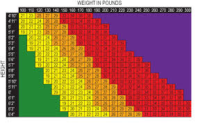 Large Bmi Chart Banner Be Healthy