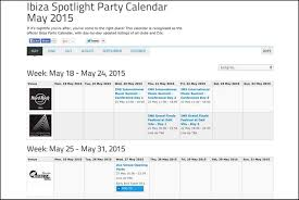 online calendars 2015 2015 ibiza spotlight party calendar online ibiza spotlight