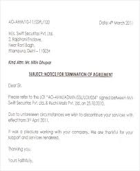 Letter To Discontinue Services Termination Letter Format