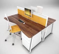 double office desk. Ascend Double Wave Desks Office Desk