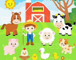 Image result for barnyard animals clipart