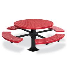 plastisol coated steel pvc rectangular picnic tables pertaining to round picnic table preparation a round picnic table for outdoor living