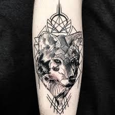 Sketch Wolf Tattoo Trashpolka Geometric Tattoovalenc Flickr