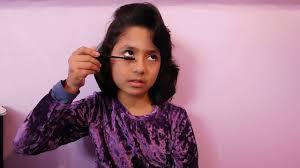 How to give mascara, face powder and design lips by Samiha Khan | in  Bangladesh - YouTube