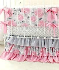 comfortable custom baby bedding pink and gray crib bedding set custom made nursery bedding uk
